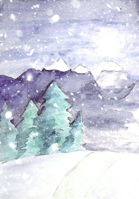 Acuarela invierno