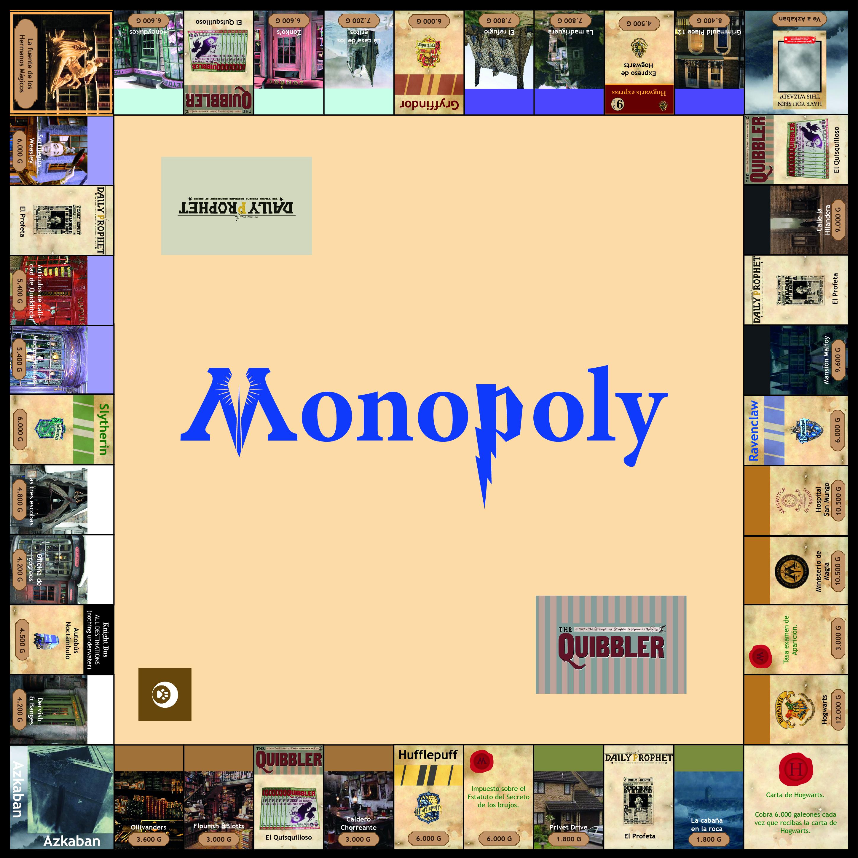 Monopoly Harry Potter - Tablero