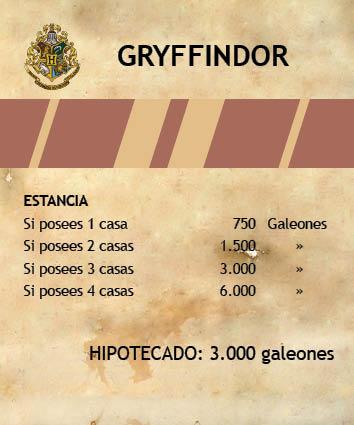 Monopoly Harry Potter - Tarjetas Propiedad