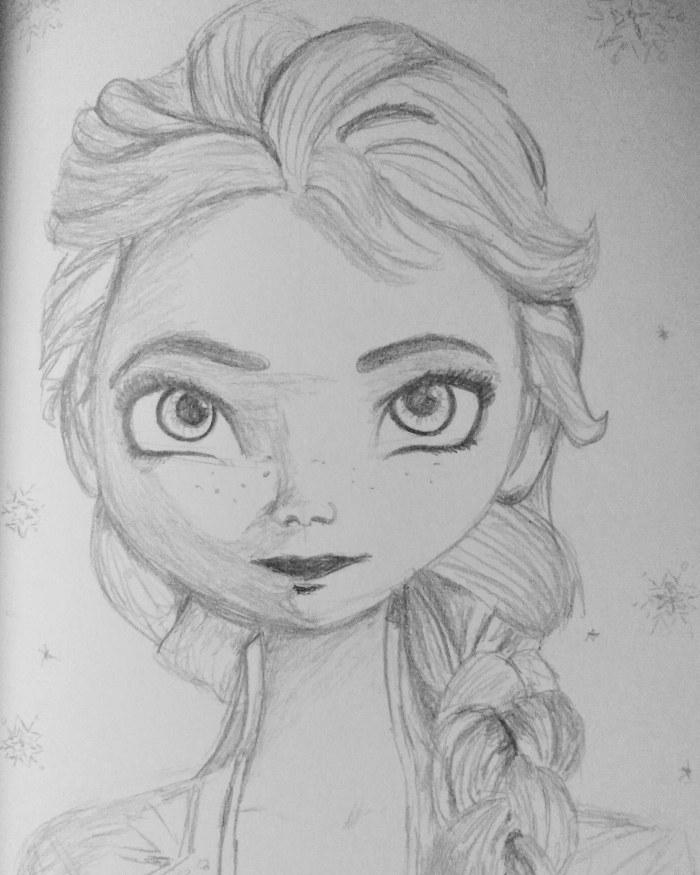 Dibujo Elsa Frozen 2