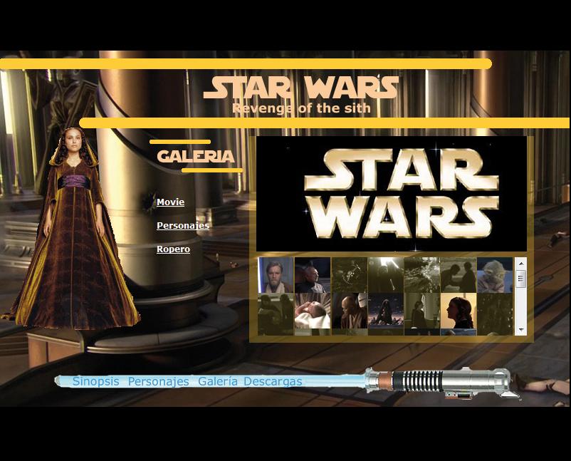 Página web de Star Wars