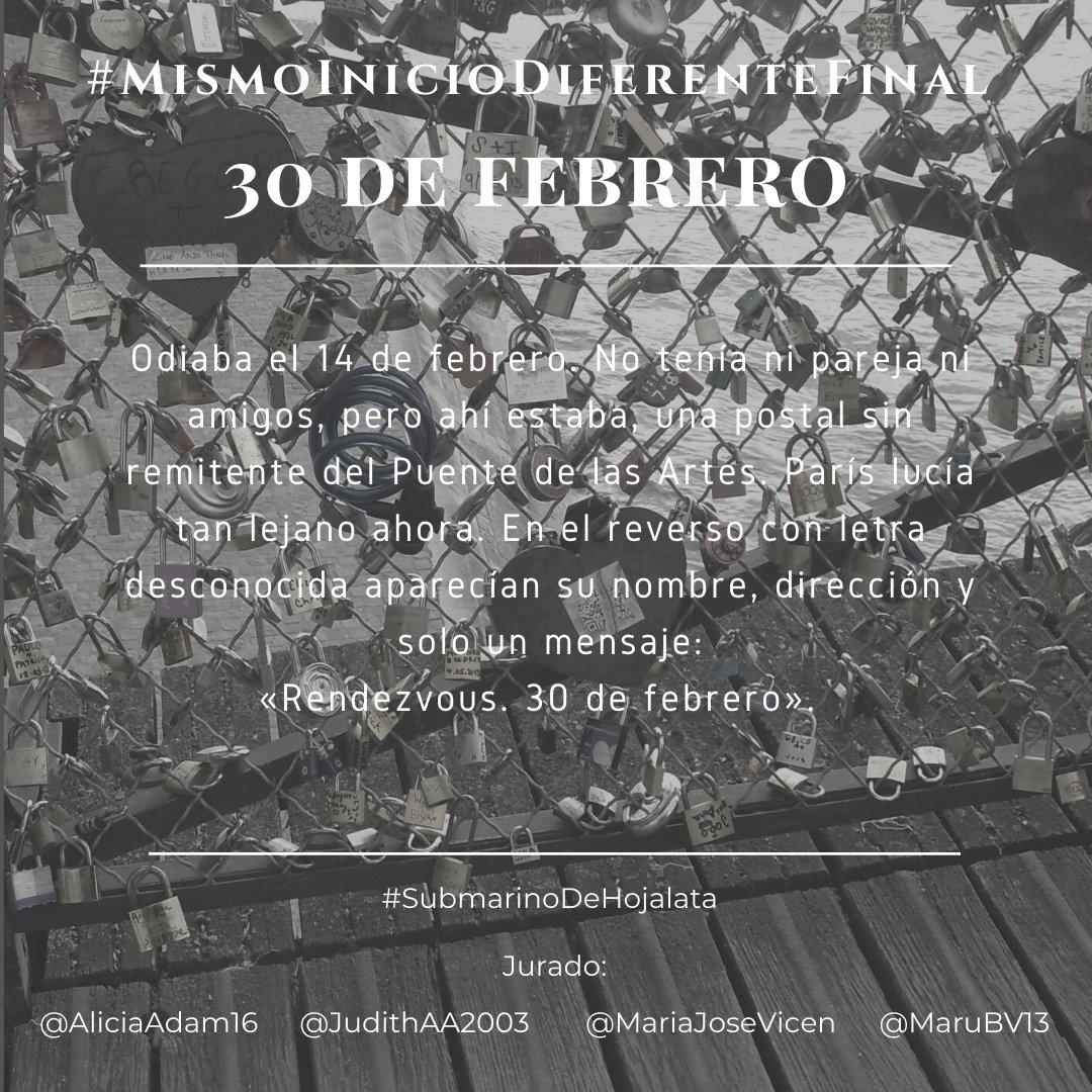 #MismoInicioDiferenteFinal - 30 de febrero